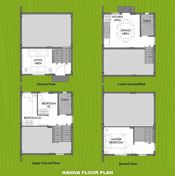 Hanna Floor Plan House and Lot in Batangas City
