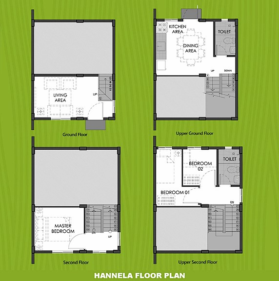 Hannela Floor Plan House and Lot in Batangas City
