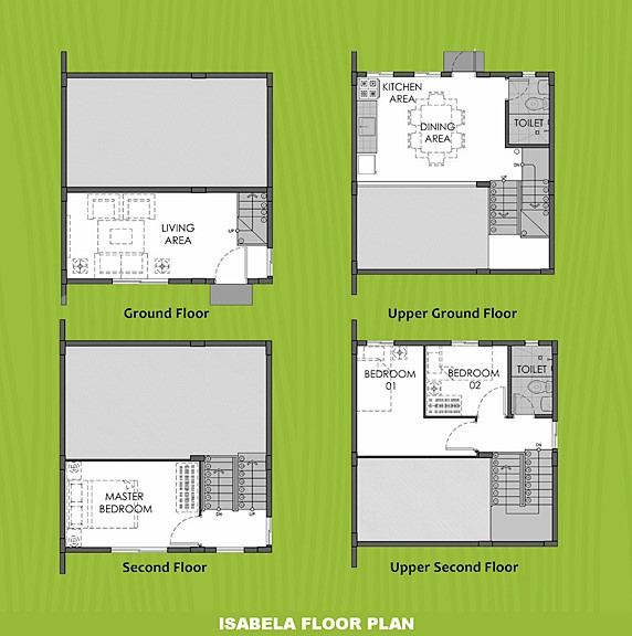 Isabela Floor Plan House and Lot in Batangas City