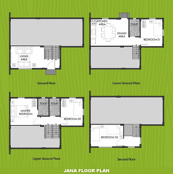 Janna Floor Plan House and Lot in Batangas City