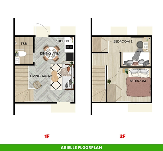 Arielle Floor Plan House and Lot in Batangas City