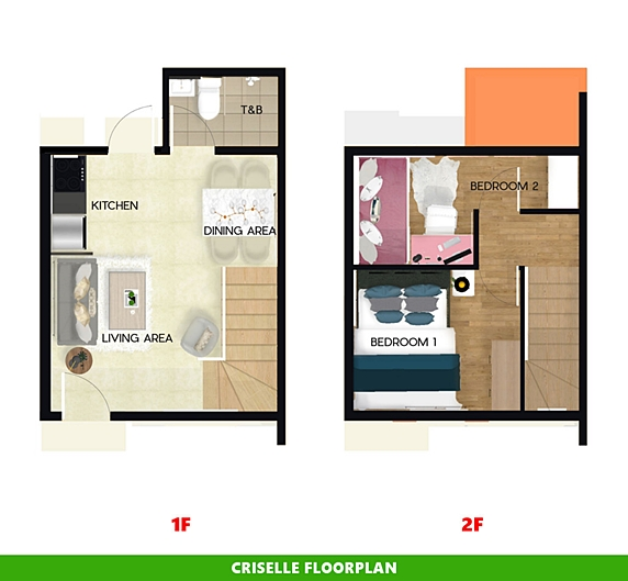 Criselle Floor Plan House and Lot in Batangas City