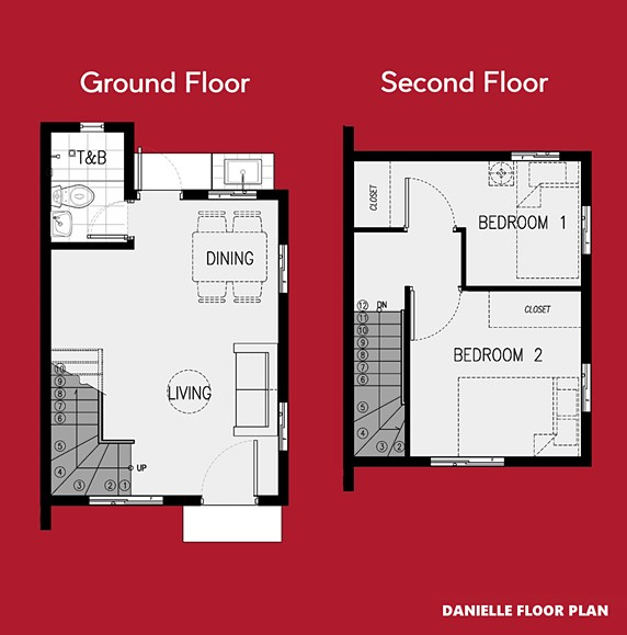 Danielle Floor Plan House and Lot in Batangas City