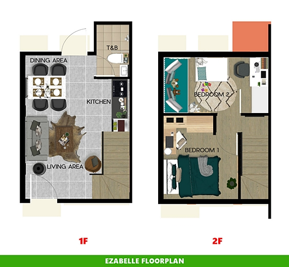 Ezabelle Floor Plan House and Lot in Batangas City