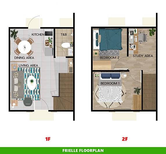 Frielle Floor Plan House and Lot in Batangas City
